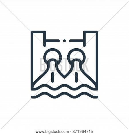 Hydro Power Vector Icon Isolated On White Background.