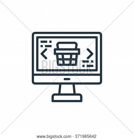 online store icon isolated on white background from  collection. online store icon trendy and modern