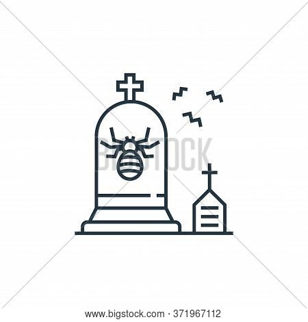 gravestone icon isolated on white background from  collection. gravestone icon trendy and modern gra