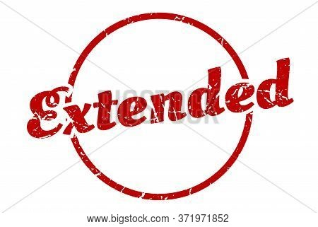 Extended Sign. Extended Round Vintage Grunge Stamp. Extended