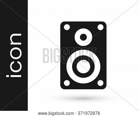 Grey Stereo Speaker Icon Isolated On White Background. Sound System Speakers. Music Icon. Musical Co