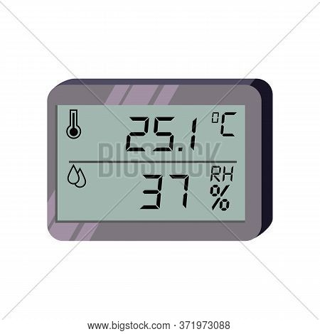 Temperature And Humidity Sensor . Climate Control, Hygrometer, Air Conditioner. Thermometer Concept.