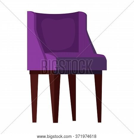 Purple Armchair Flat Icon. Couch, Relaxation, Resting. Chairs Concept. Illustration Can Be Used For