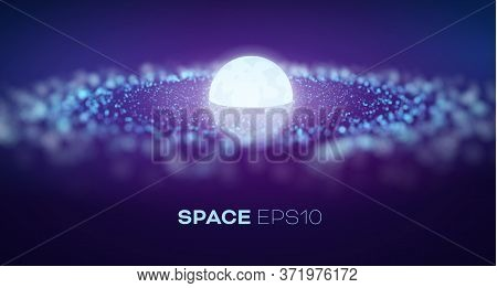 Galaxy In Abstract Style On Light Background. Abstract Space Vector Background. Purple Galaxy Spiral
