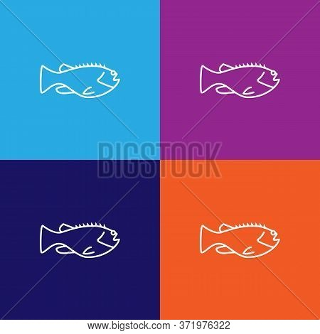 Seafood, Mackerel Icon. Element Of Asian Cuisine Illustration. One Of The Collection Icons For Websi
