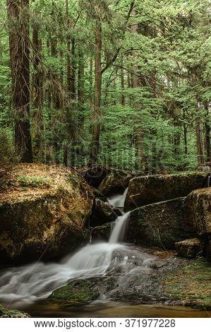 Waterfall Photo.long Exposure Photo Of Beautiful Pekelny Waterfall,jizerske Mountains,czech. Motion