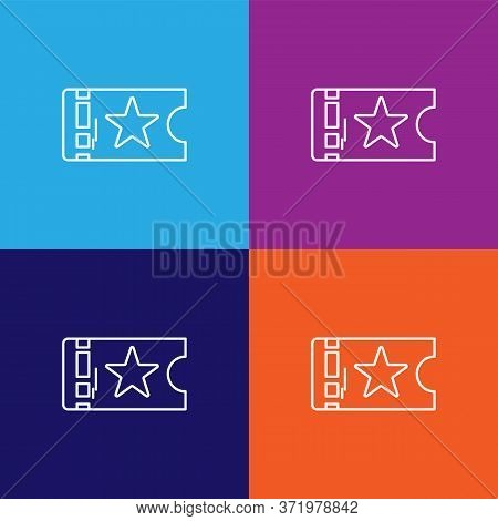Ticket Theatre Icon. Element Of Theatre Illustration. Premium Quality Graphic Design Icon. Signs And