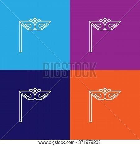 Mask Theatre Icon. Element Of Theatre Illustration. Premium Quality Graphic Design Icon. Signs And S
