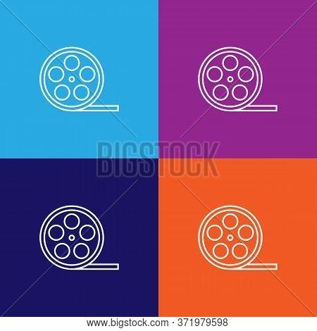 Film Theatre Icon. Element Of Theatre Illustration. Premium Quality Graphic Design Icon. Signs And S