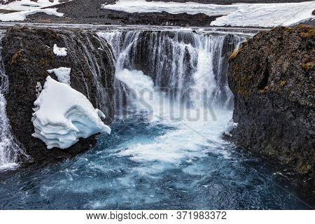 The Amazing Waterfall At The Sigolduglijufur Canyon Iceland