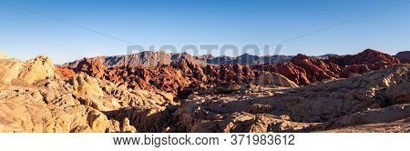 Panorama View Of Nevada's Valley Of Fire