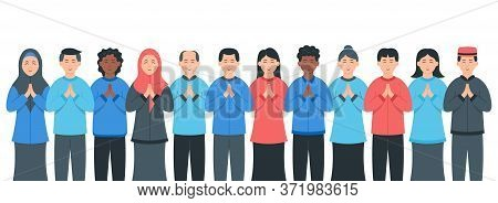 Diverse Multiracial And Multicultural Group Of People. Diverse Groups Of People. Society Or Populati