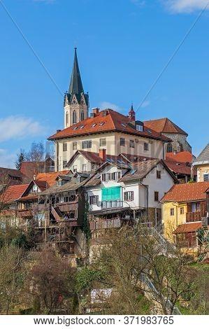 Cathedral Building Landmark In Novo Mesto Slovenia