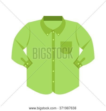 Plain Shirt Clothes Green Pastel Color Isolated On White, Green Clothes Pattern Plain Flat Simple, C