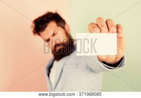 Blank Piece Of Paper. Barbershop Concept. Best Barber Master. Barber Shop For Gentlemen. Brutal Male
