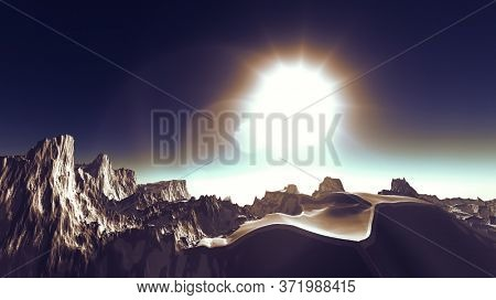 3d illustration of fantasy planet