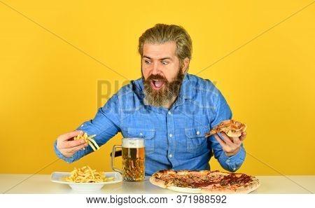 Bachelor Men Club. Having Fun And Drink In Bar. American Pub Menu. Man Watching Football While Drink