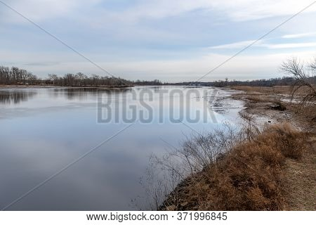 A View Of Rancocas Creek In Riverside, Burlington County New Jersey.