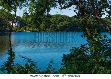A Peaceful Morning On Scenic Lake Lefferts In Matawan New Jersey.