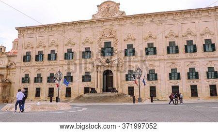 Famous Castille Building - Home Of The Prime Minister Of Malta - Valletta, Malta - March 5, 2020