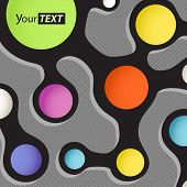 Abstract scheme with color circles. Template for a text poster