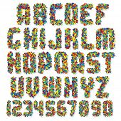 Motley Colorful Vector Font poster