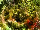 unknown fantasy alien computer generated abstract in different colors poster