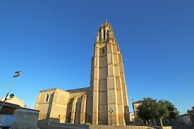 Church Of Ampudia In The Square, Spain