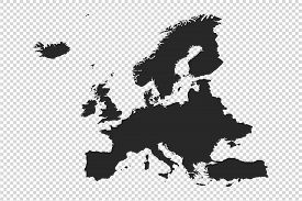 Europe Map With Gray Tone On   Png Or Transparent  Background,illustration,textured , Symbols Of Eur