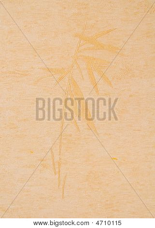 Print A Bamboo On A Beige Paper