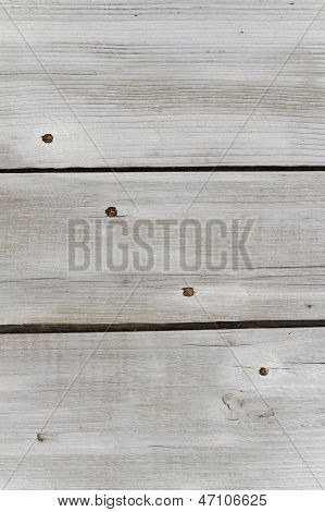 Weathered White Timber Planks Background