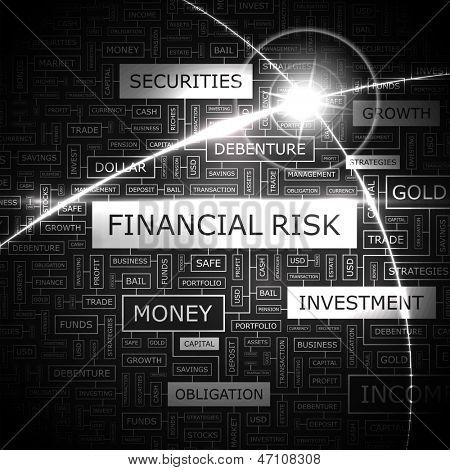 FINANCIAL RISK. Word cloud concept illustration.