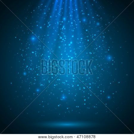 Blue shining magic light vector background