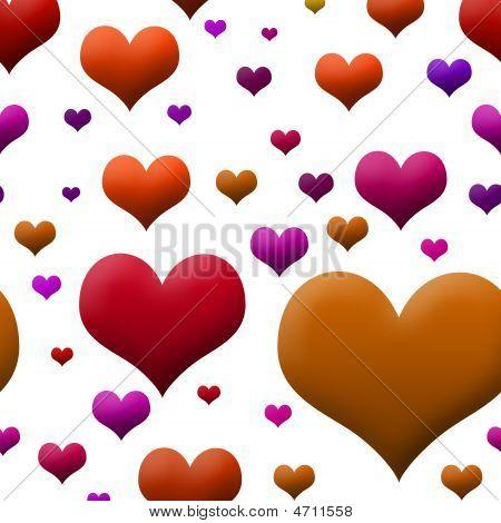 Autumn Hearts Wallpaper