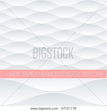 Papier Weißfisch skalieren seamless Pattern. Minimalistische Vektor Hintergrund.