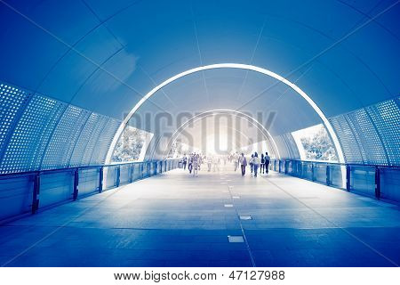 Business People In Underpass