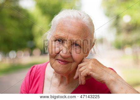Elderly Smiling Woman