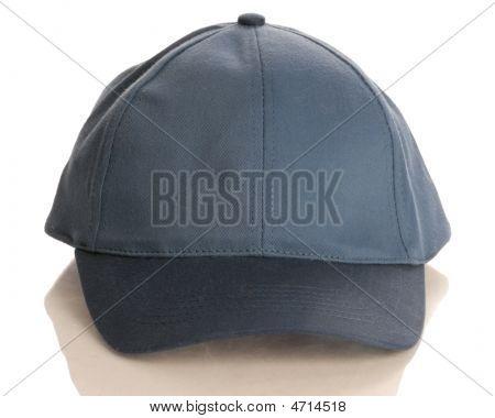 Blue Baseball Cap Front View
