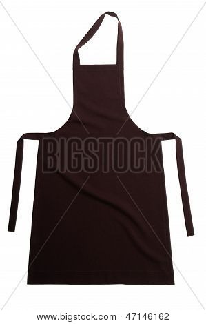 Brown Apron Isolated On White