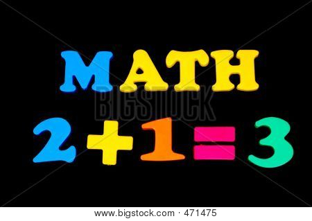 Toy Letters And Numbers - Math