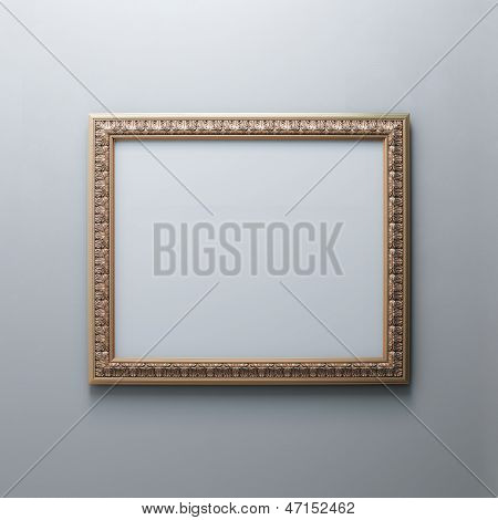 Classic Frame On White Wall (Rectangle Horizontal Version)