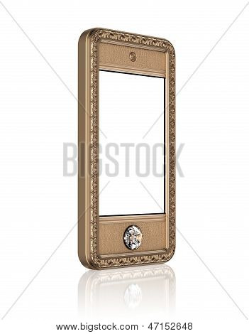 VIP phone with blank touch screen and the diamond button