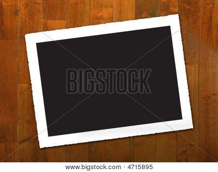 Vintage Photo Border W/ Wood Background