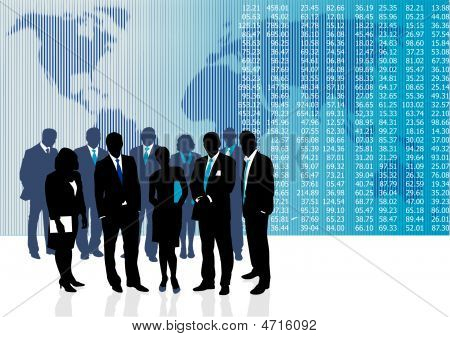 Vector illustration of business people and entrepreneurs poster