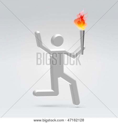 Running With Fire Torch