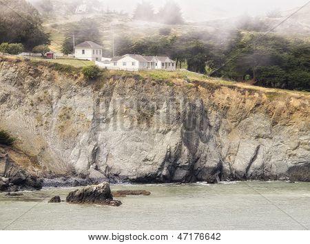 Ocean Cliffin Lifting Fog