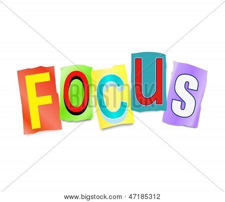 Focus Concept.