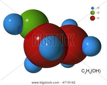 Isolated 3D Model Of Ethyl Spirit