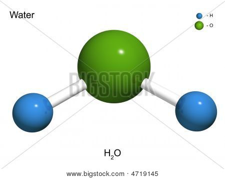 The Isolated 3D Model Of Water