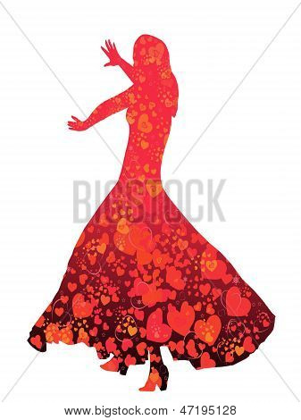 Young Woman-flamenco Dancer